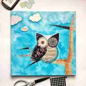 jenn_garman_mixed_media_owl_painting